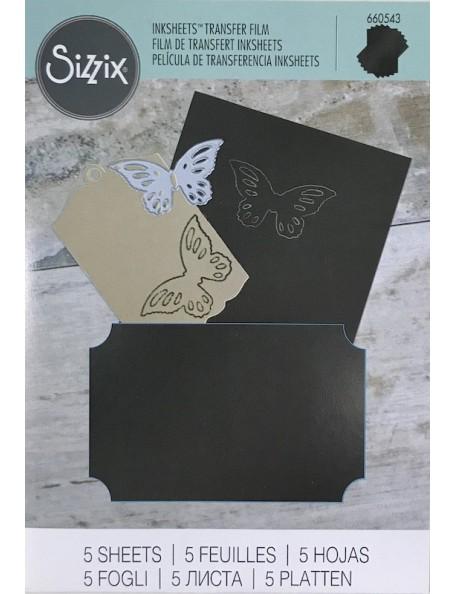 """Sizzix papel de calco/Inksheets Sheets 4""""X6"""" 5, negro-Black"""