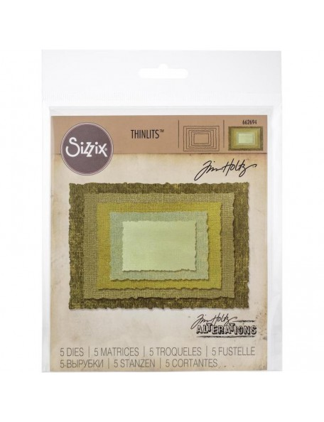 Sizzix Thinlits troquel de Tim Holtz, marco foto antigua/Stacked Deckle