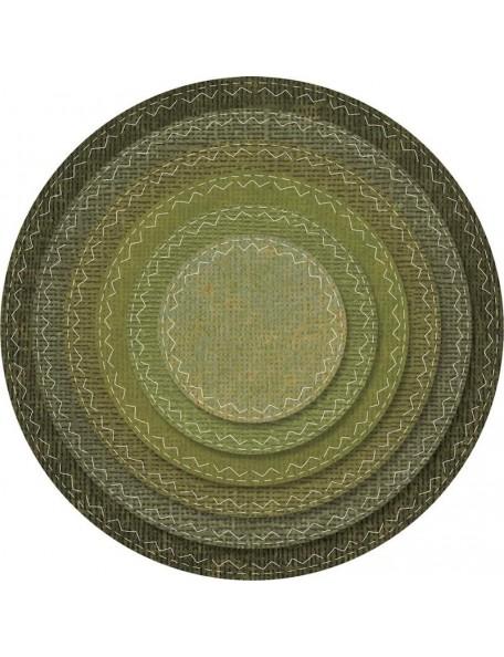 Sizzix Framelits troquel de tim Holtz 6, Círculos cosidos/Stitched Circles