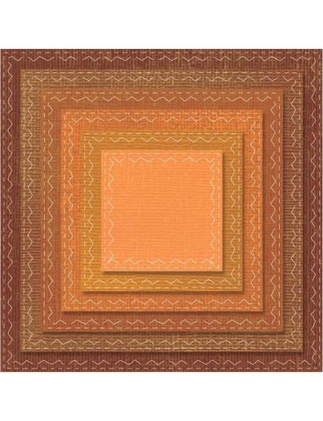 Sizzix Framelits troquel de Tim Holtz 6, Cuadrados cosidos/Stitched Squares