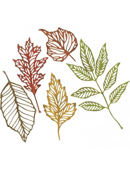 Sizzix Thinlits troquel de Tim Holtz 5, Hojas de esqueleto/Skeleton Leaves