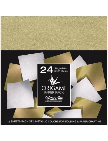 Graphic Products Origami pack de papel, Metallic Mulberry 24 hojas