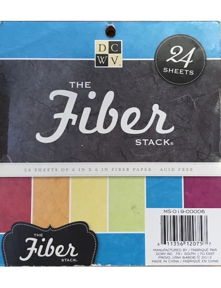 """DCWV Speciality Stack 6""""x6"""", 6 Colores/4. Fiber"""