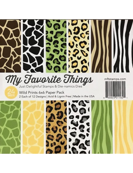 "My Favorite Things Single-Sided Paper Pad 6""X6""24, Wild Prints, 12 Designs/2 Each"