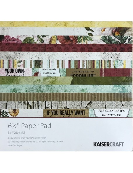"Kaisercraft Paper Pad 6.5""X6.5"" 40, Be-You-Tiful"