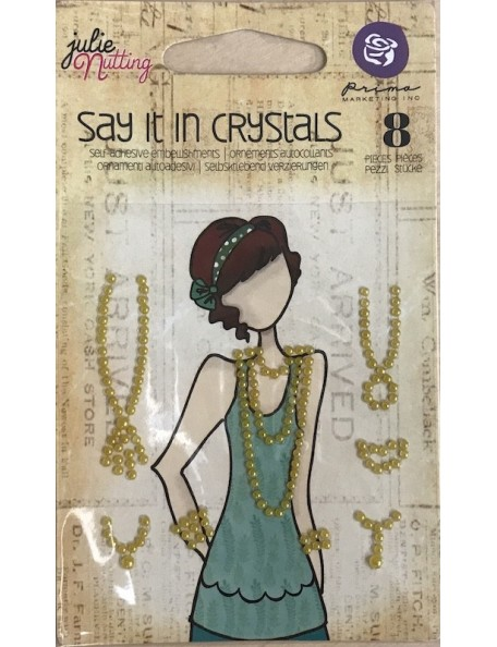 Prima Marketing Say It In Crystals decoraciones Julie Nutting, color oro/Gold