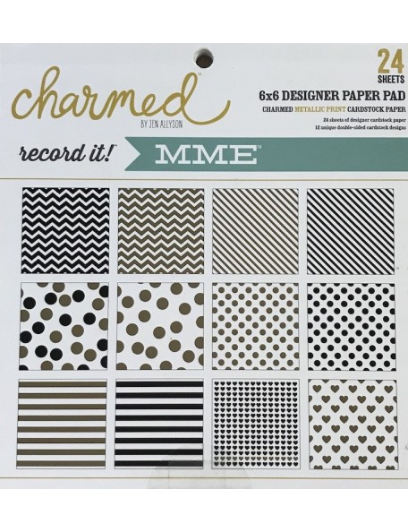 "My Mind'S Eye Paper Pad 6""X6"" 24-Record It! Charmed"