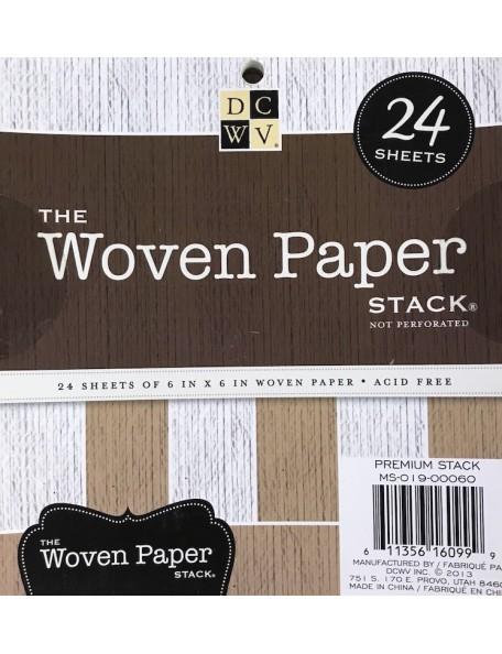 """DCWV Specialty Stack 6""""X6"""" 24 hojas, imitacion tejido"""