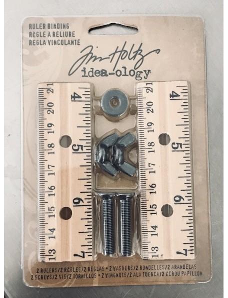 tim holtz Idea-Ology regla vinculante/Ruler Binder