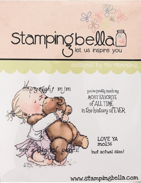 "Stamping Bella sello/Cling Stamp 6.5""X4.5"", Love Ya"