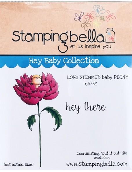 Stamping Bella sello Peonía bebé de tallo largo/Long Stemmed Baby Peony