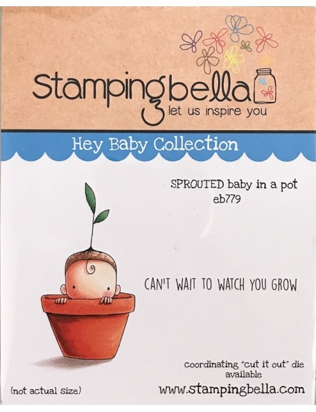 Stamping Bella sello Bebé brotando/Sprouted Baby
