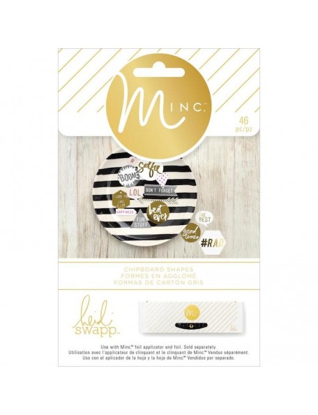 heidi swapp Minc decoraciones en carton/Chipboard Shapes 46
