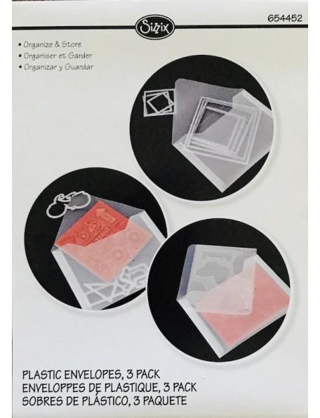 """Sizzix sobres de plastico/Plastic Envelopes 3, medidas 6.875""""X5"""""""