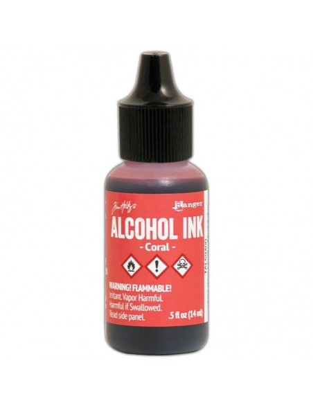 Tim Holtz Alcohol Ink .5oz, Coral