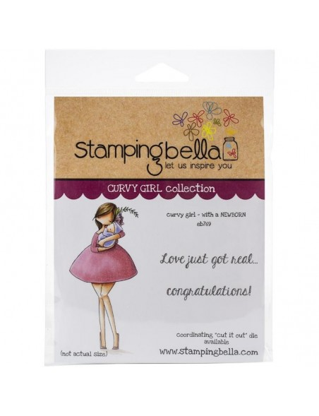 Stamping Bella Cling Stamps, Curvy Girl With A Newborn