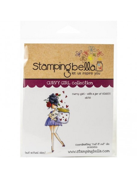 Stamping Bella Cling Stamps, Curvy Girl With A Jar Of Hearts