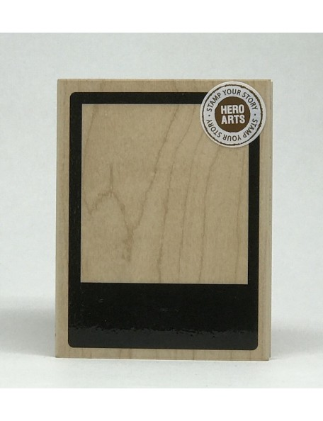 "Hero Arts Retro Frame Sello de Madera 4.25""X3.25"""