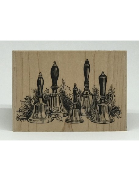 "Inkadinkado Mounted Rubber Stamp 5""X3.5"", Choir Bells"