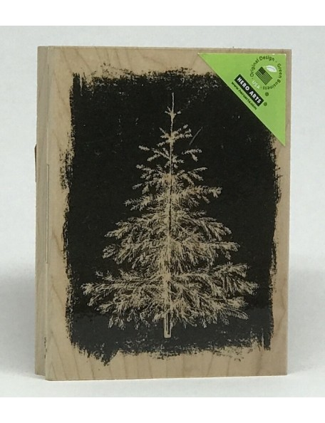 "Hero Arts Mounted Rubber Stamp 4.25""X3.25"", Winter Evergreen"