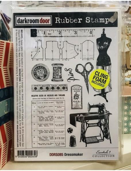 Darkroom Door Rubber sello de costura/Stamp Set Dressmaker
