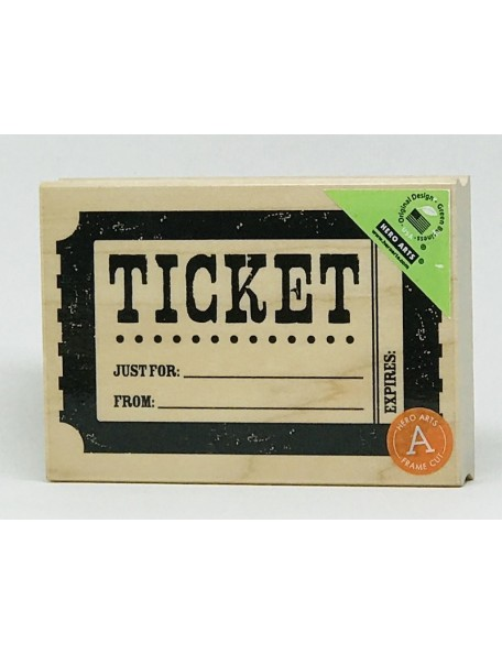"Hero Arts - Ticket Sello de Madera 3""X4"""