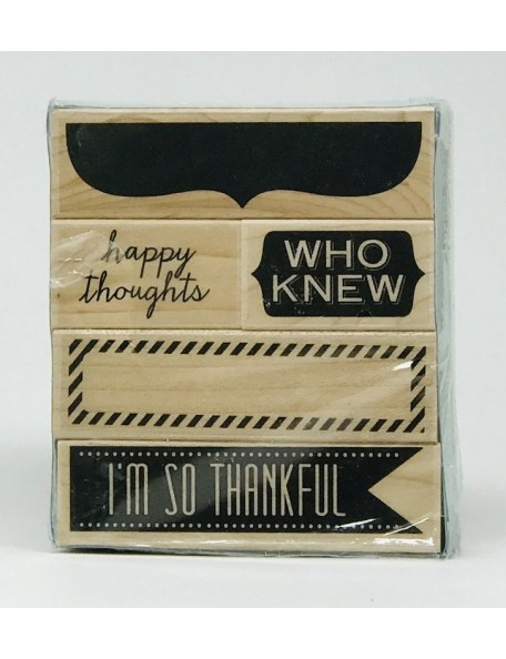 """Hero Arts Pensamientos felices sello/Mounted Rubber Stamp Set 3.5""""X4"""", Happy Thoughts"""