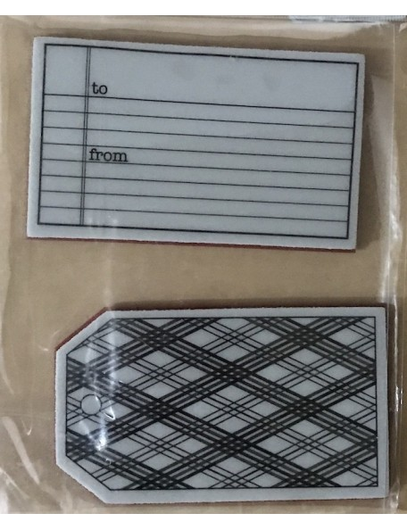 "Hero Arts sello etiquetas/Cling Stamps To & From4.5""X5.75"""