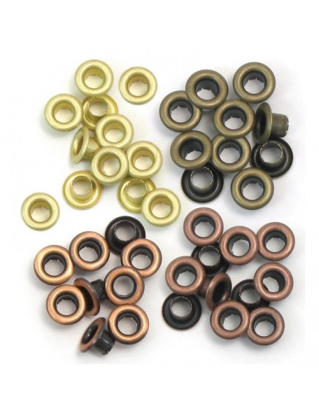 We R memory keepers Eyelets Standard 60/15 de cada color, colores calidos/Warm Metal