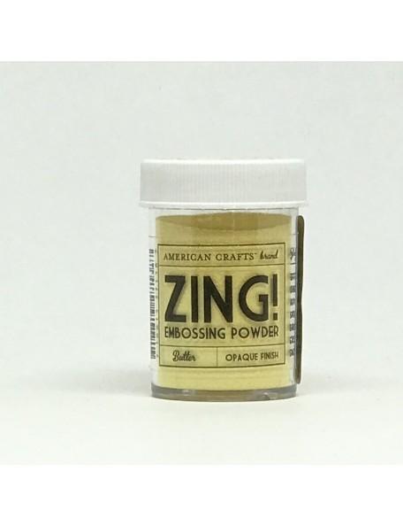 American Crafts Zing! Opaque Polvos de Embossing 1Oz, Butter