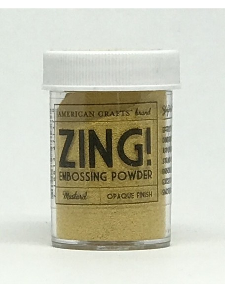 American Crafts Zing! Opaque Embossing Powder 1Oz Mustard