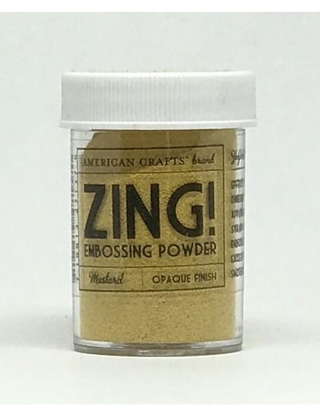 American Crafts Zing! Opaque polvos de embossing 1Oz, Mustard