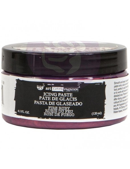 prima marketing Finnabair Art Extravagance Icing Paste 120ml bote, Fire Ruby