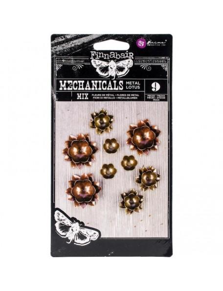 Finnabair Mechanicals Metal Embellishments-Lotus
