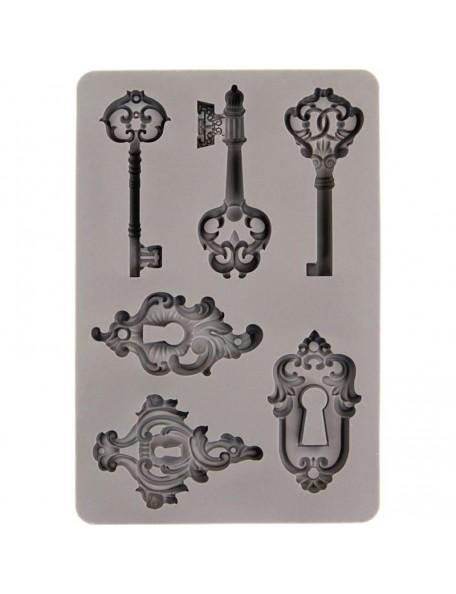 "Prima Marketing Finnabair Decor moldes/Moulds 5""X8"", llaves/Keys"