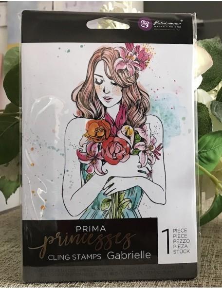 """Prima Marketing Princesses sello/Cling Stamp 5""""X7"""", Gabrielle"""