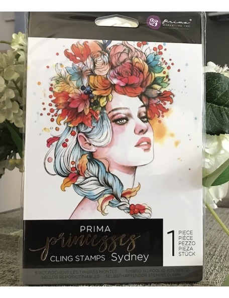 "Prima Marketing Princesses sello/Cling Stamp 5""X7"", Sydney"