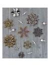 prima marketing Finnabair Mechanicals adornos metalicos/ Metal Embellishments, Winter Trinkets