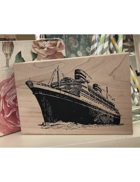 Tim Holtz Wood Mounted Stamp Cruis Ship Stampers Anonymous
