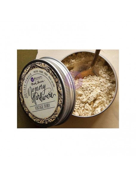 Prima Marketing Memory Hardware Artisan Powder1oz, Vintage Ivory