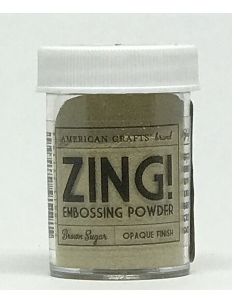 American Crafts Zing! Opaque Embossing Powder 1Oz Brown Sugar