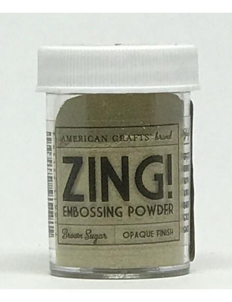American Crafts Zing! Opaque Embossing Powder 1Oz, Brown Sugar