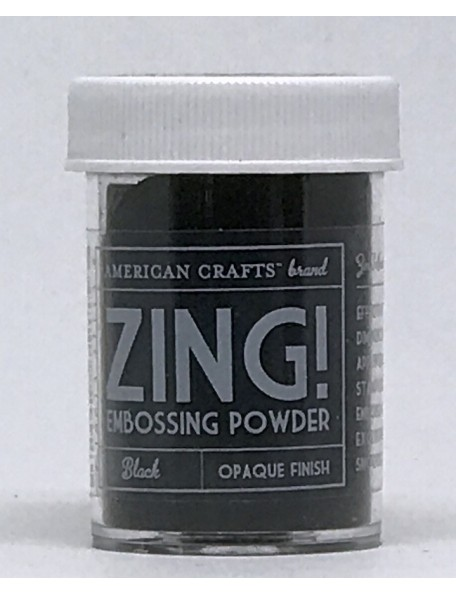 American Crafts Zing! Opaque Embossing Powder 1Oz Black
