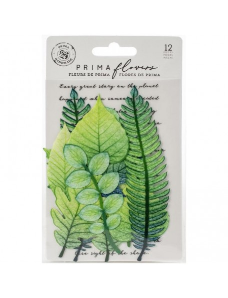 Prima Marketing hojas de tela/Fabric Leaves 12, Mountain Pine