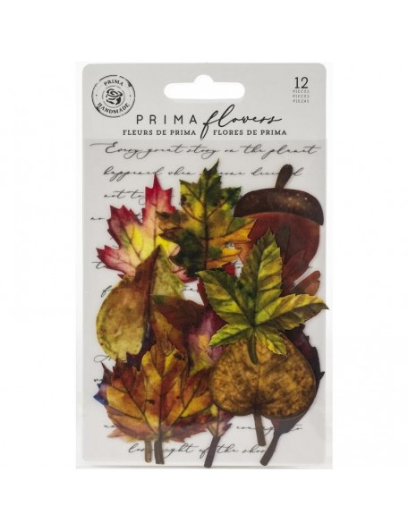 Prima Marketing hojas de tela/Fabric Leaves 12, Fall Pine