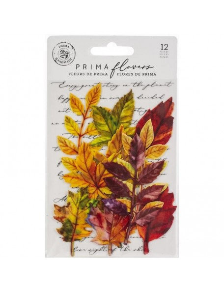 Prima Marketing hojas de tela/Fabric Leaves 12, Fall Solstice