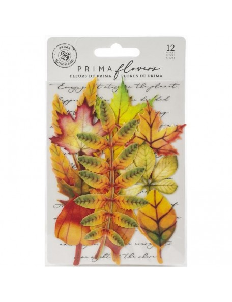 Prima Marketing hojas de tela/Fabric Leaves 12, Autumn Maple