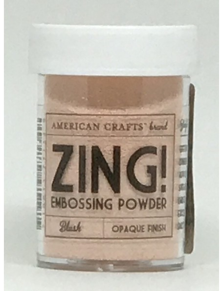 American Crafts Zing! embossing Opaque Finish Blush