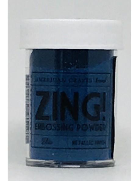 American Crafts Zing! Metallic Embossing Powder 1Oz, Blue