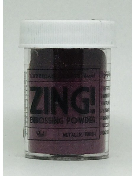 American Crafts Zing! Metallic Embossing Powder 1 Oz Red